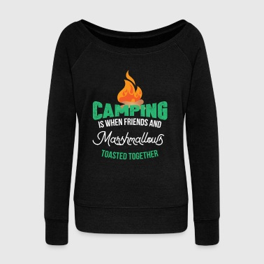 Camping Camper - Women's Boat Neck Long Sleeve Top
