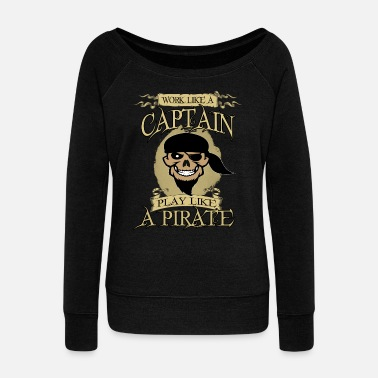 Pirate pirate - Women's Boat Neck Long Sleeve Top