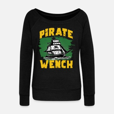 Pirate Flag Pirate flag pirate ship - Women's Boat Neck Long Sleeve Top