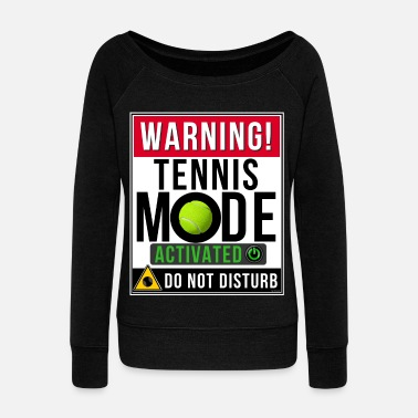 Mode Tennis Mode Mode Activated - Women's Boat Neck Long Sleeve Top