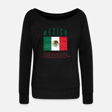 Bandera Mexican Flag Bandera Mexico - Women's Boat Neck Long Sleeve Top