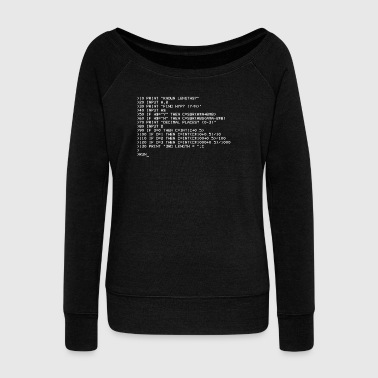 Computer Science Basic Pythagoras - Women's Boat Neck Long Sleeve Top