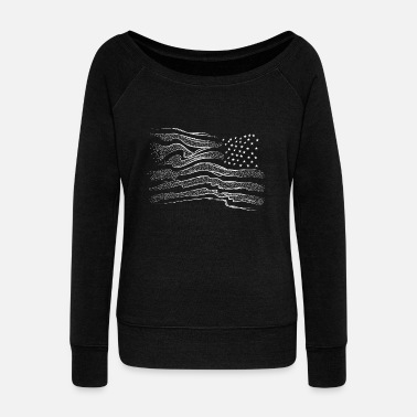 American Flag American flag - Women's Boat Neck Long Sleeve Top