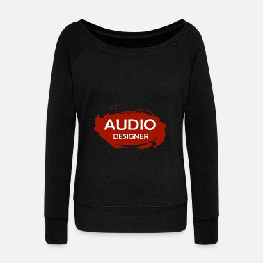 Audio Audio Designer - Women's Boat Neck Long Sleeve Top