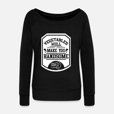 Veggie Vegan animal protection environmental protection - Women's Boat Neck Long Sleeve Top