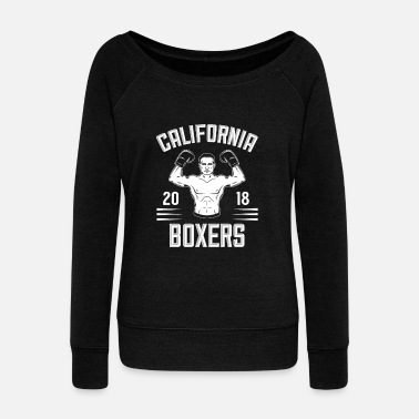 Boxing Gloves California boxers - Women's Boat Neck Long Sleeve Top