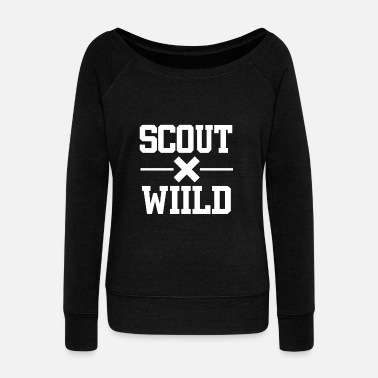 Sing Wild scout boyscout - Women's Boat Neck Long Sleeve Top