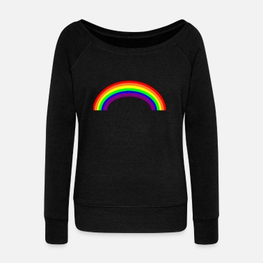 Rainbow rainbow - Women's Boat Neck Long Sleeve Top
