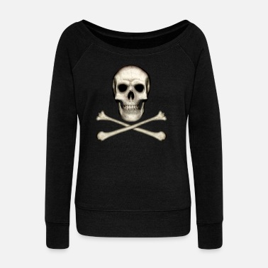 Skull And Crossbones Skull and Crossbones - Women's Boat Neck Long Sleeve Top