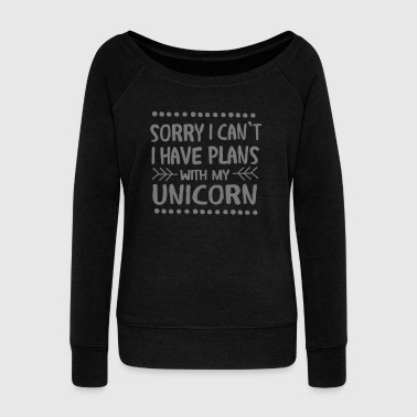 My Sorry I Can\\\'t - I Have Plans With My Unicorn - Sudadera con escote drapeado mujer