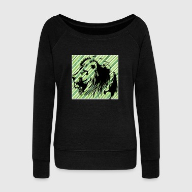Leo lion - Women's Boat Neck Long Sleeve Top
