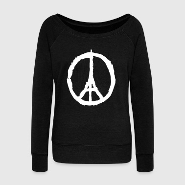 PRAY FOR PARIS - PEACE FOR PARIS - Women's Boat Neck Long Sleeve Top