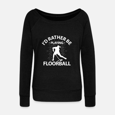 Floorball Floorball e floorball - Felpa con scollo a barca da donna, marca Bella