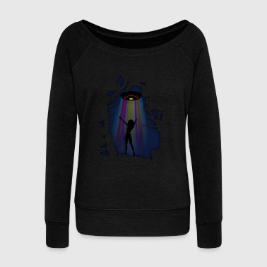 Alien Disco Fever - Women's Boat Neck Long Sleeve Top