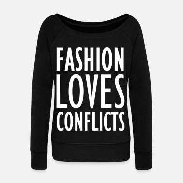 Conflict FASHION LOVES CONFLICTS 2reborn - Women's Boat Neck Long Sleeve Top