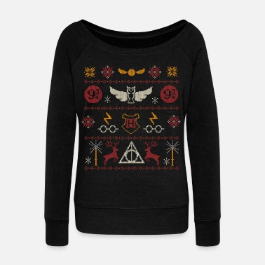 Hogwarts Harry Potter Ugly Christmas Sweater Design - Frauen Pullover mit U-Ausschnitt