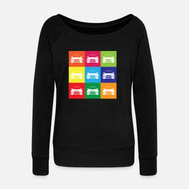 Multi Coloured Multi Colour Impreza - Women's Boat Neck Long Sleeve Top