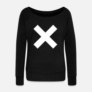 Cross cross - Women's Boat Neck Long Sleeve Top