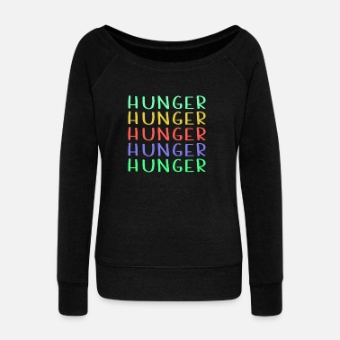 Hunger Shop Colorful Hunger Design - Pull Femme col bateau de Bella