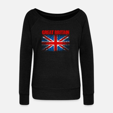 Kingdom United Kingdom Flag 008 AllroundDesigns - Women's Boat Neck Long Sleeve Top