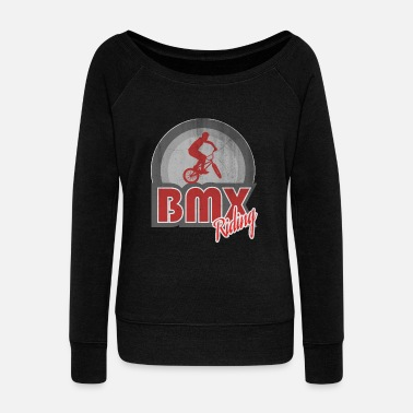 Bmx BMX - Women's Boat Neck Long Sleeve Top
