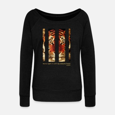 Tiger Tiger - Women's Boat Neck Long Sleeve Top
