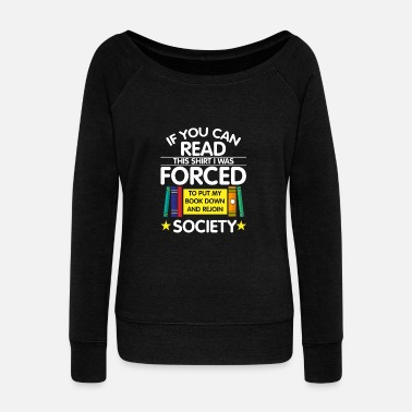 Book Lovers Book - Book Lovers - Women's Boat Neck Long Sleeve Top
