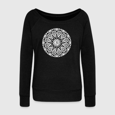 Om One Color - Women's Boat Neck Long Sleeve Top
