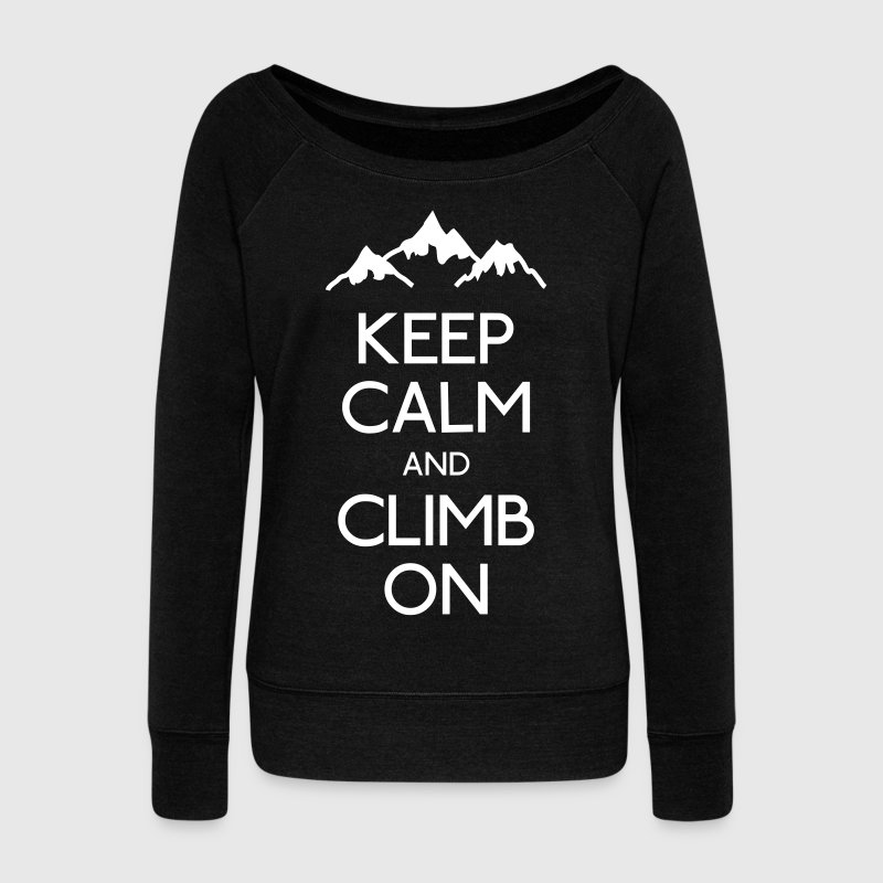 keep calm and climb on - Pull Femme col bateau de Bella