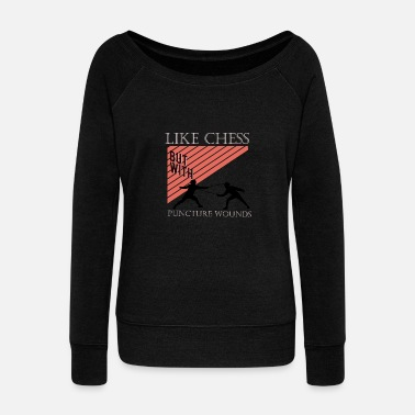 Stab Like chess, but with stab wounds - Women's Boat Neck Long Sleeve Top