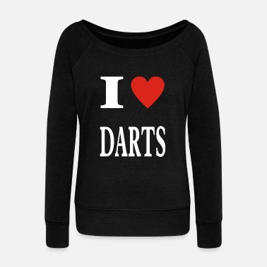 Design for crazy dart players funny gift - Women's Boat Neck Long Sleeve Top