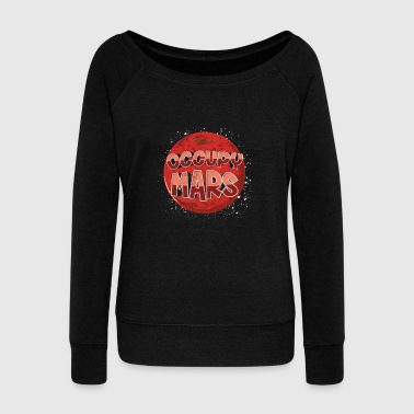 Occupy Occupy Mars Elon Musk SpaceX Occupy Mars - Women's Boat Neck Long Sleeve Top
