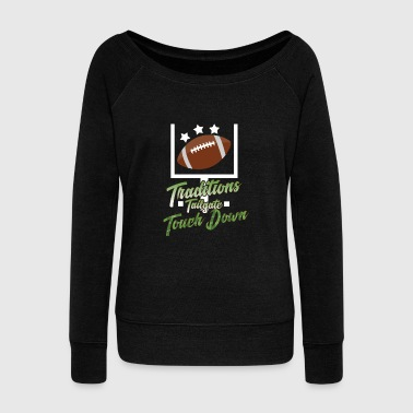 American Football American football - Women's Boat Neck Long Sleeve Top