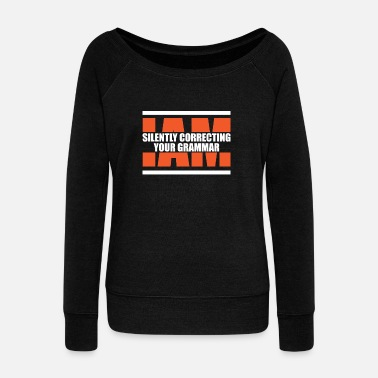 Grammar Grammar - Women's Boat Neck Long Sleeve Top