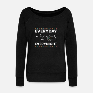 Ecstasy Ecstasy day and night - Women's Boat Neck Long Sleeve Top