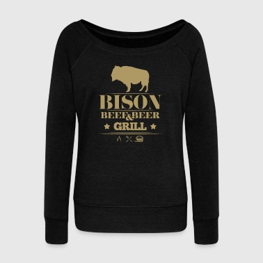 Grill · Bison · Bison grill - Women's Boat Neck Long Sleeve Top