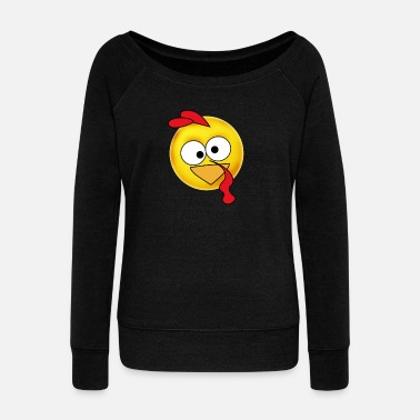 Emoji emoji turkey turkey thanksgiving dinner fun humo - Women's Boat Neck Long Sleeve Top