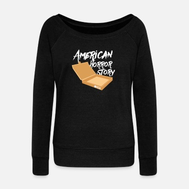 Story American Horror Story Food Tee Shirt Gift - Women's Boat Neck Long Sleeve Top