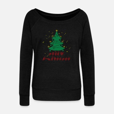 British Sign Language Merry Christmas Shirt Ugly - Women's Boat Neck Long Sleeve Top