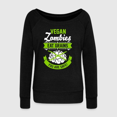 Vegan Zombies eat Grains you are safe! Veggie - Naisten Bella u-kaula-aukkoinen pusero