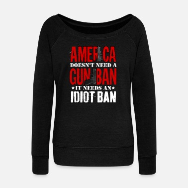 Interdiction Interdiction des armes ou interdiction d'Idoten - Pull Femme col bateau de Bella