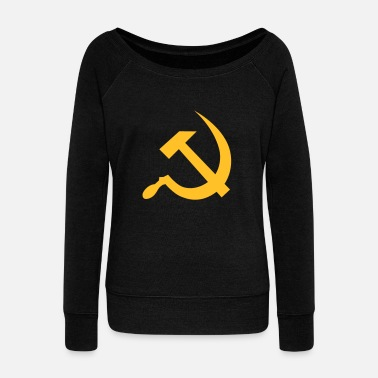 Marx hammer and sickle / soviet union / russia - Felpa con scollo a barca da donna, marca Bella