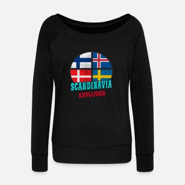 Scandinavia Scandinavia Explorer / Scandinavia / Gift - Women's Boat Neck Long Sleeve Top