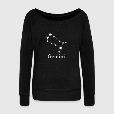 Gemini Gemini zodiac constellation night - Women's Boat Neck Long Sleeve Top