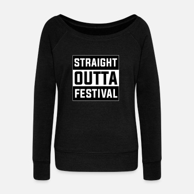 Festival Festival T-Shirt, Concert T-Shirt, Party T-Shirt - Women's Boat Neck Long Sleeve Top