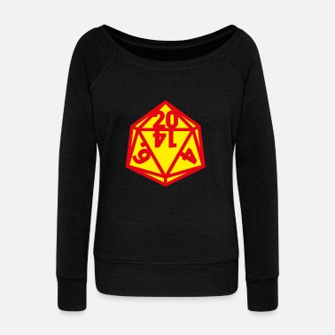 RPG DICE - Women's Wide-Neck Sweatshirt