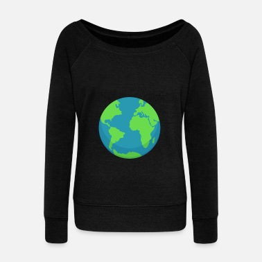 Planet Earth planet Earth - Women's Boat Neck Long Sleeve Top