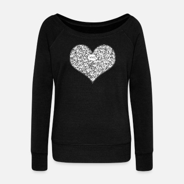 A Heart Full of Woof - Women's Boat Neck Long Sleeve Top