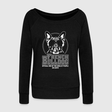 FRENCH BULLDOG coolest people - Women's Boat Neck Long Sleeve Top