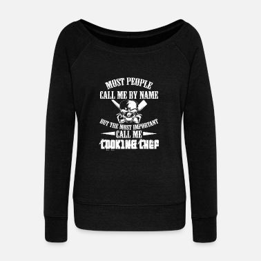 Chef Chef Chef Chef Gift - Women's Boat Neck Long Sleeve Top